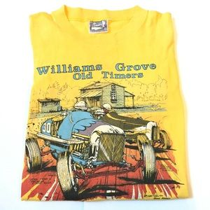 Vintage single stitch racing t shirt 80's medium